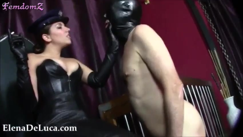 Domme Uses Naked Male Slave For Faceslapping And