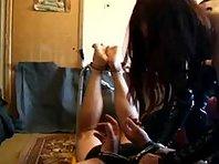 Homemade Femdom - Russian Mistress Torturing