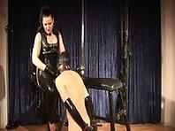 Femdom Mistress Silvia trains her Slaveboy