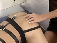 Mistress uses her slave for her sadistic needs