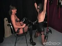 Slave fucked while in Pain - CBT