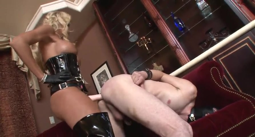 Hot Cruel Blonde Nailing with a strap-on