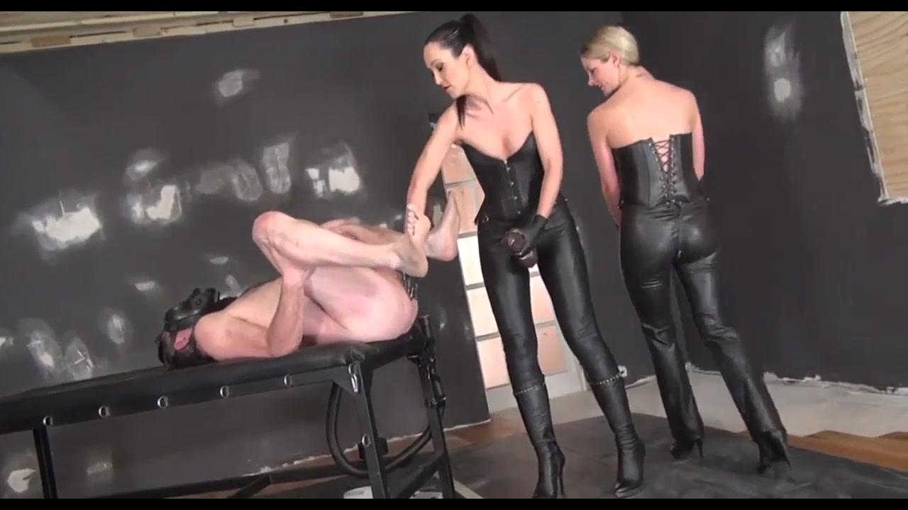 Two Mistresses Use Giant Strapons