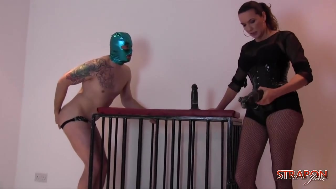 Strapon Jane - Pegging and humiliating the slave boy