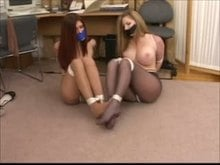 Bondage Girls in Pantyhose and Gags