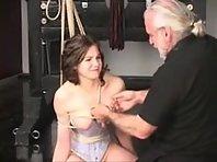 Breast bondage and shibari - Maledom