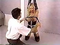 Blonde Slave Breast Torture