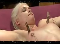 Tit Torture with Zipper and forced Orgasms