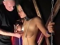 Slavegirl getting her tits tortured