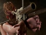 Tightly bound and Facefucked